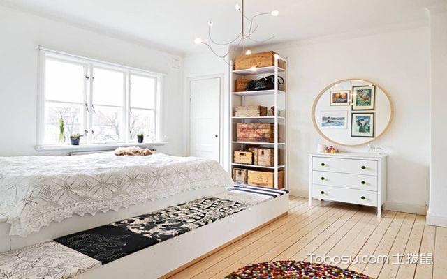 80平米北欧二居室装修 主卧