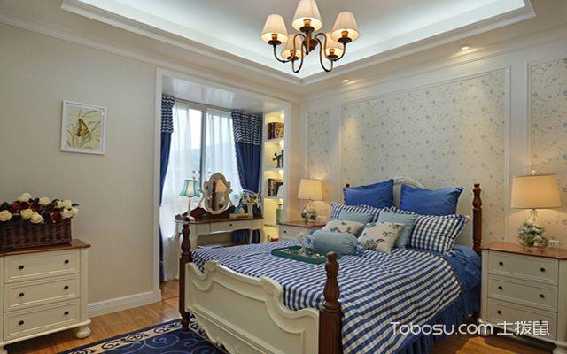 70平美式田园风格装修设计之卧室