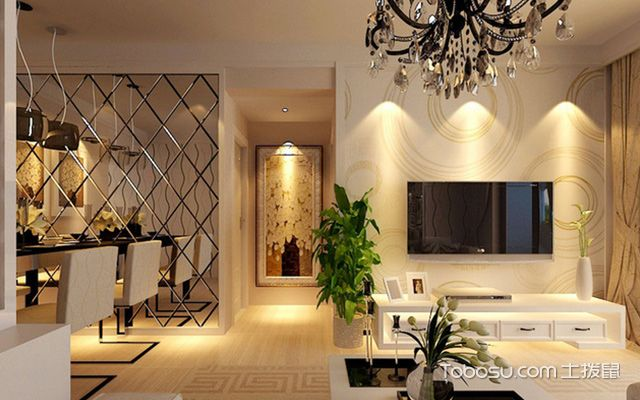 最新墙面贴壁纸的优缺点—客厅