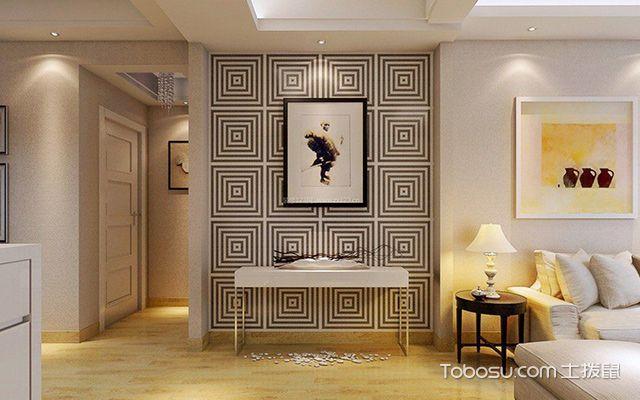 最新墙面贴壁纸的优缺点—客厅设计