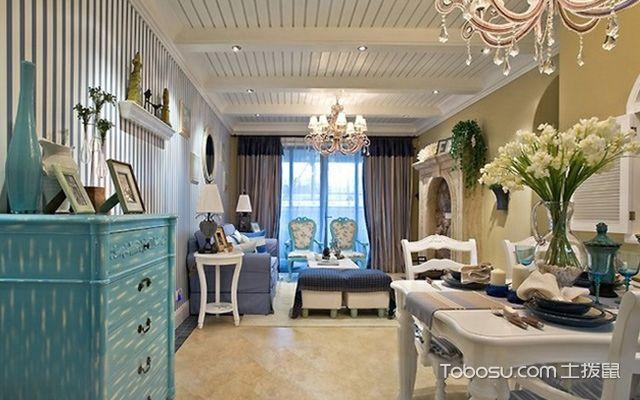 最新墙面贴壁纸的优缺点—地中海风格客厅