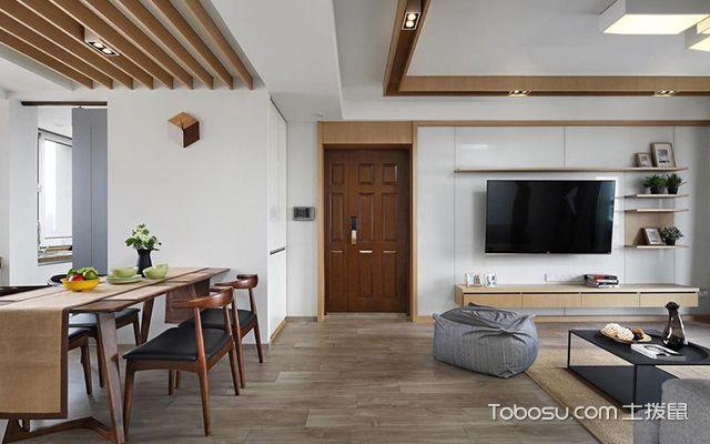 深圳86平简约风格两房装修案例空间设计