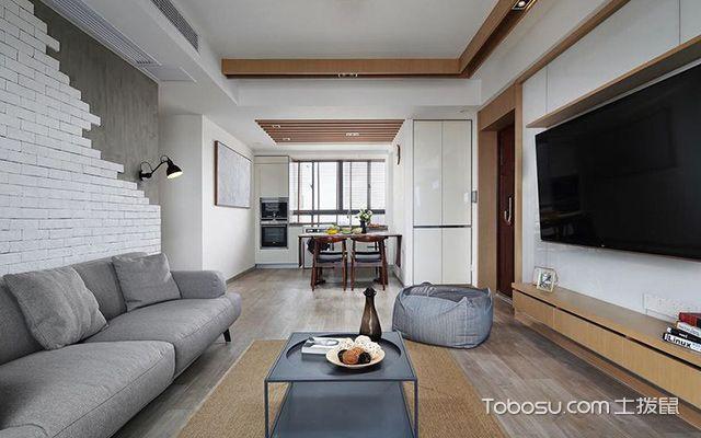 深圳86平简约风格两房装修案例客厅