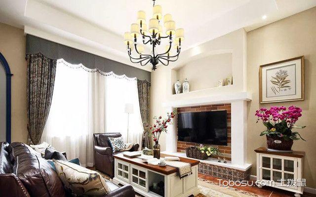 140平复式四居室装修客厅
