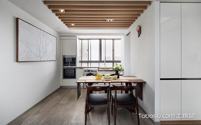 深圳86平简约风格两房装修案例餐厅