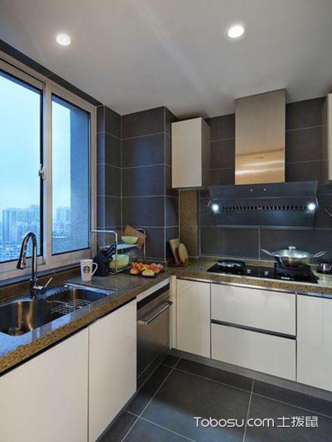深圳86平简约风格两房装修案例厨房