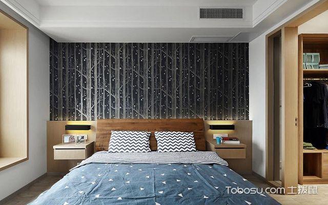 深圳86平简约风格两房装修案例卧室