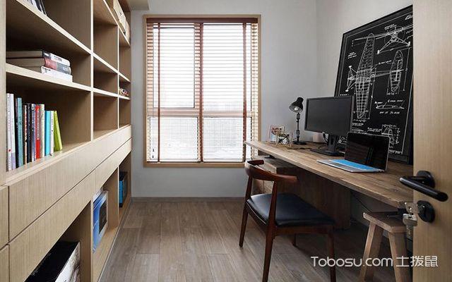 深圳86平简约风格两房装修案例书房