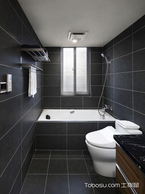 深圳86平简约风格两房装修案例卫生间