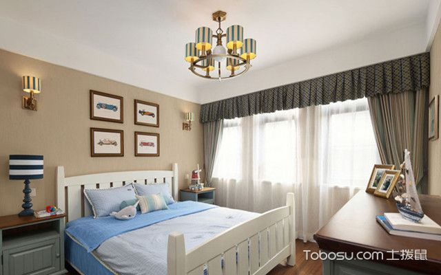 140平复式四居室装修儿童房