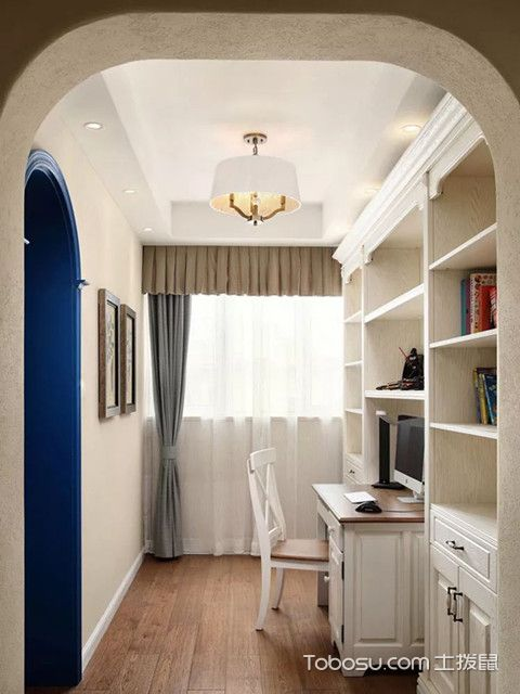 140平复式四居室装修书房