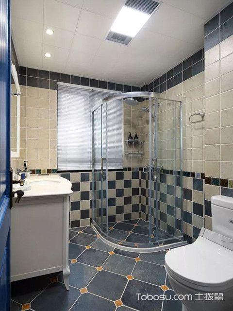 140平复式四居室装修卫生间