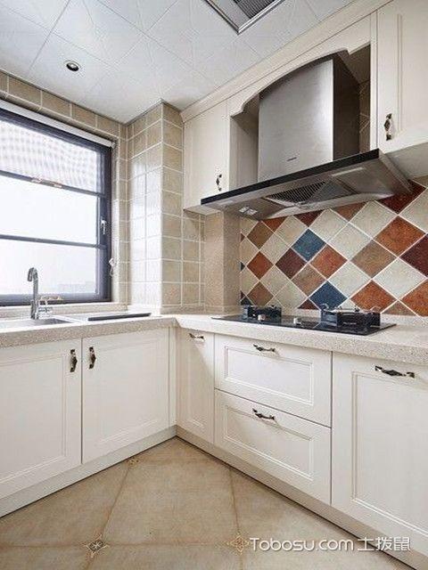 89平现代美式装修图厨房