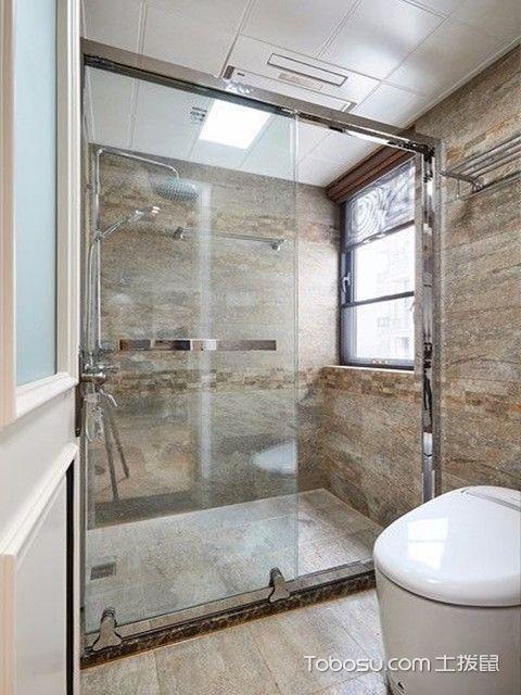 89平现代美式装修图卫生间