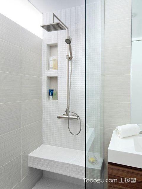小户型浴室置物架效果图 现代风