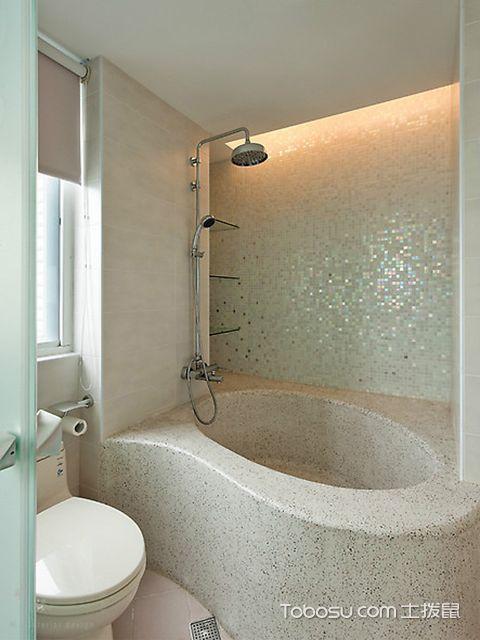 小户型浴室置物架效果图 宜家风
