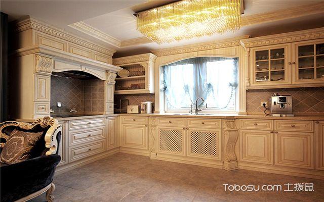 最新欧式厨房吊顶装修效果图 奢华