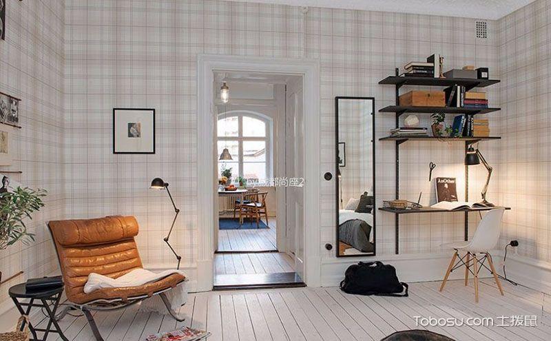 白色清新素雅北欧风格一居室装修效果图