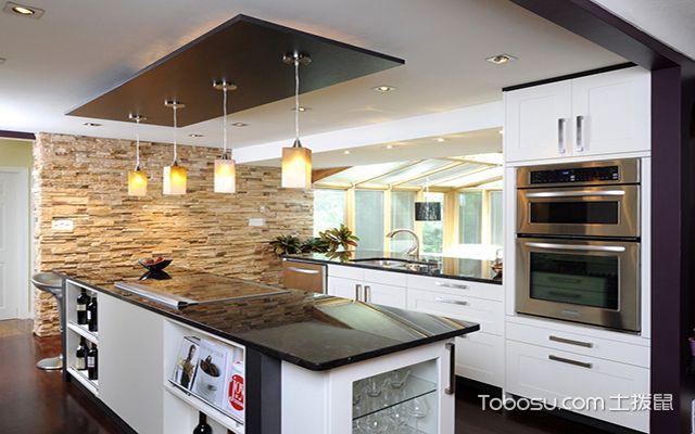 最新欧式厨房吊顶装修效果图 肌理