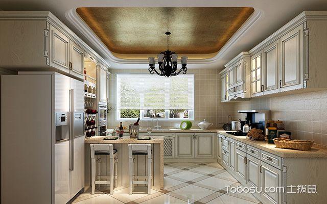 最新欧式厨房吊顶装修效果图 大气