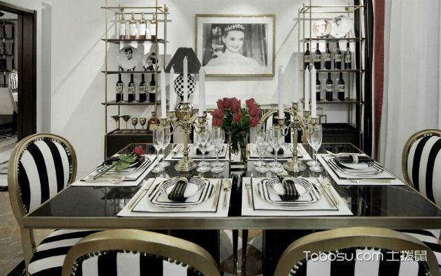 黑白灰装修设计案例之餐厅