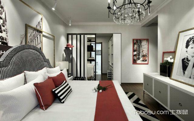 黑白灰装修设计案例之卧室