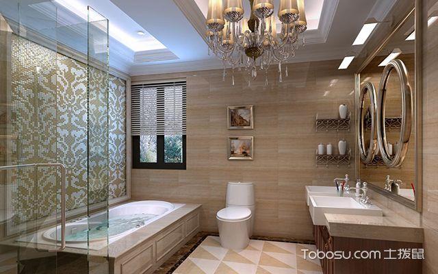 最新欧式别墅浴室装修效果图 古典
