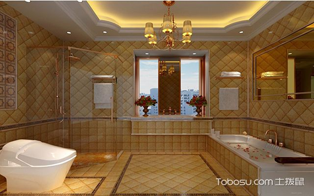 最新欧式别墅浴室装修效果图 温暖