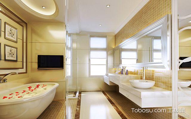 最新欧式别墅浴室装修效果图 舒适