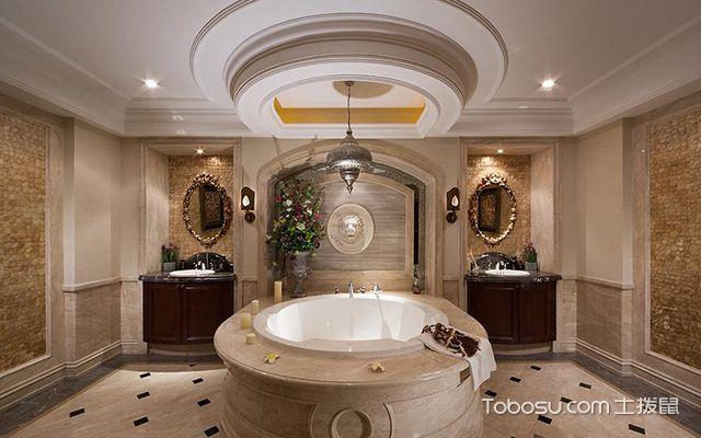 最新欧式别墅浴室装修效果图 独特