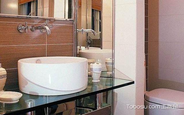 卫生间洗手台怎么选材—玻璃