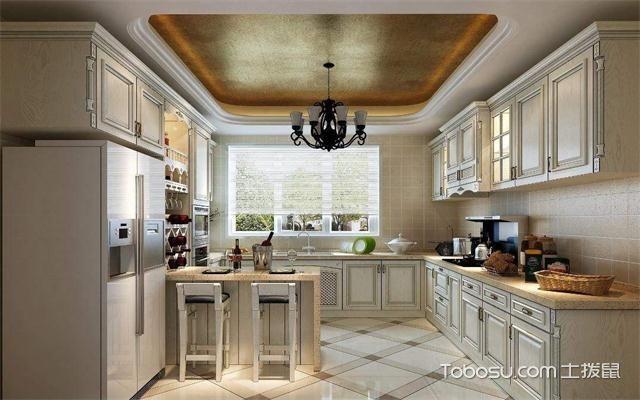 最新美式厨房吊顶装修效果图之厨房吊顶
