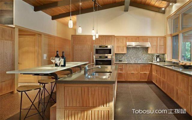 最新美式厨房吊顶装修效果图之倾斜顶面