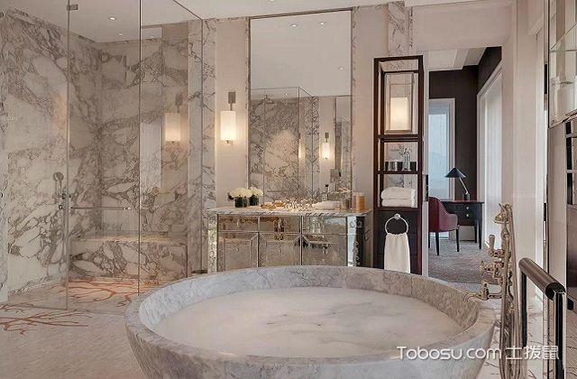 大户型浴室镜装修效果图之浴缸