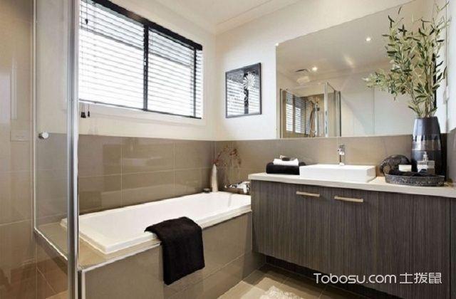 大户型浴室镜装修效果图之矩形