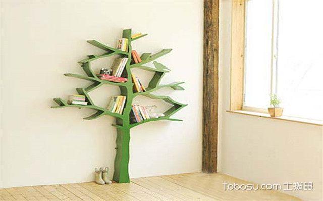 简易小书柜书架设计方案一:树形书架