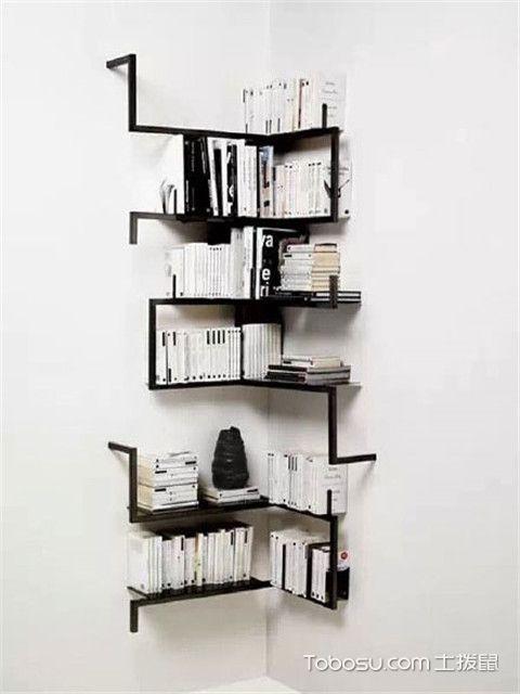 简易小书柜书架设计方案四:工业风书架