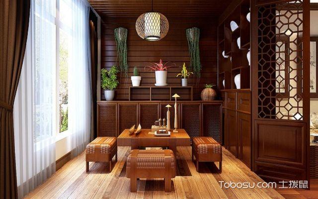 生活小阳台怎么装修设计之茶室