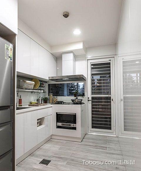 90平米小三房田园装修案例之厨房