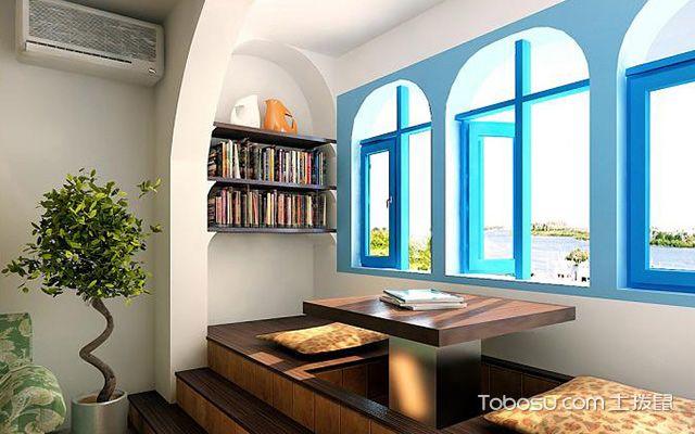 大阳台怎样装修成书房——案例四