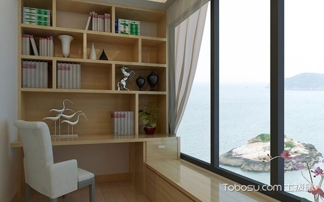 大阳台怎样装修成书房——案例五