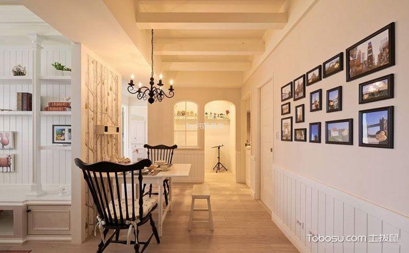 10万80平米田园风格小两室装修效果图