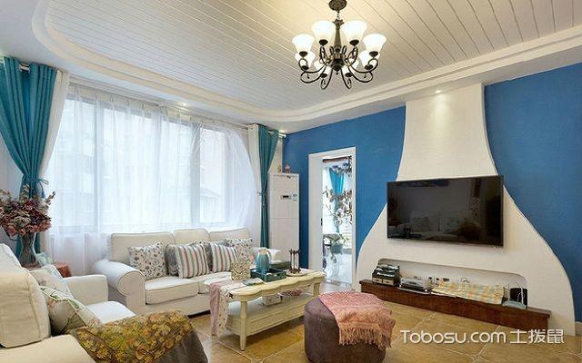 地中海90平米装修案例之客厅