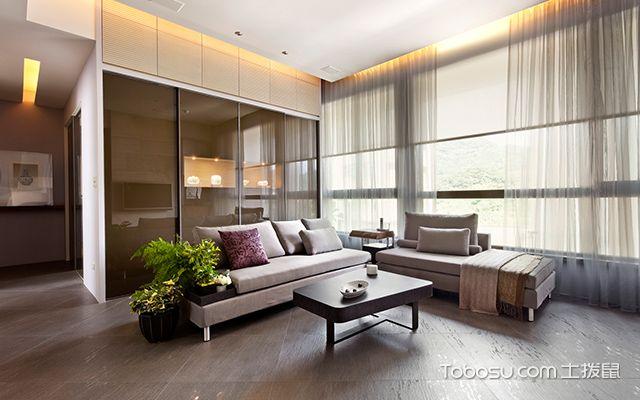 现代简约装修风格的特点是什么—浅棕色客厅