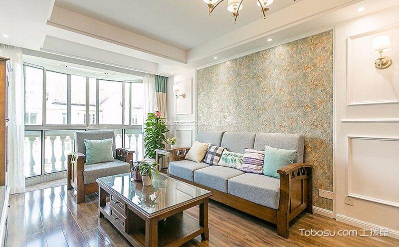 温暖舒适的160平米美式家居装修效果图片