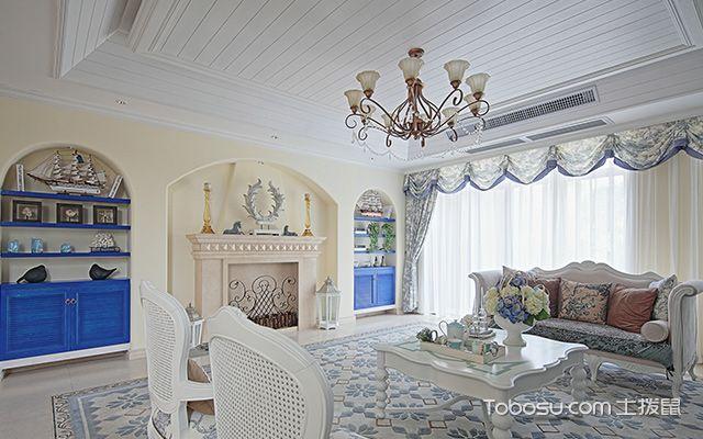 地中海风格客厅特点四:装饰方法独特