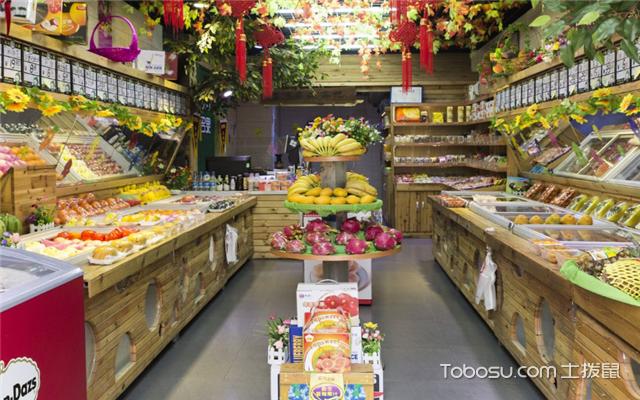 30平方小型水果店装修