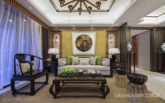 大户型中式客厅布置讲究之对称