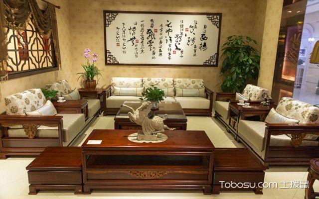 大户型中式客厅布置讲究之元素