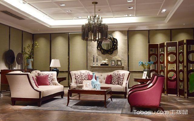 大户型中式客厅布置讲究之色彩